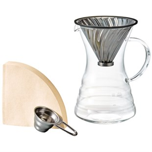 Hario V60 02 Metal Decanter Demleme Seti